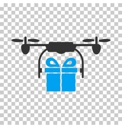 Drone Gift Delivery Icon vector image