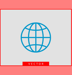 earth globe icon symbol world map vector image