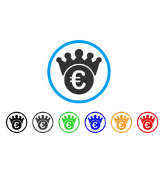 euro crown rounded icon vector image