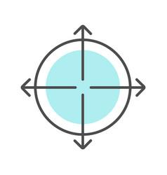 Expansion symbol color icon vector