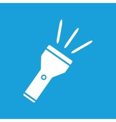 Flashlight white icon vector