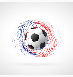 Football championship banner design with particle vector