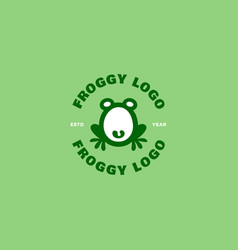 Froggy logo vector