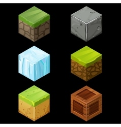Game block Isometric Cubes Set elements vector