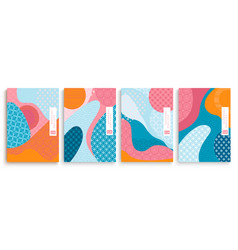Geometric templatescovers set in japan style vector