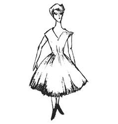 Girl in style 50s vector