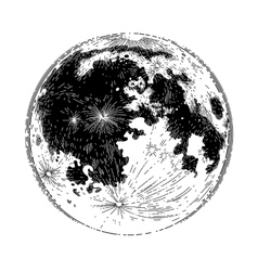 Graphic full moon vector