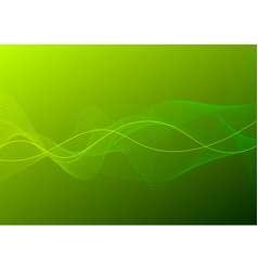 green curve line abstract background vector image