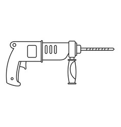 Hammer drill icon outline style vector