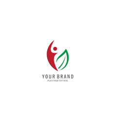 Healthy people symbol logo vector