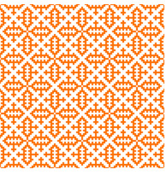 hmong pattern seamless texture background orange vector image