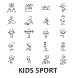 Kids sport play children sports football vector