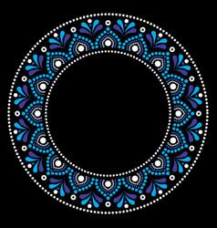 Mandala australian dot paiting style- design vector