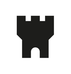medieval castle tower icon on white background vector image
