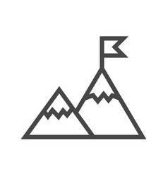 Mountains thin line icon vector