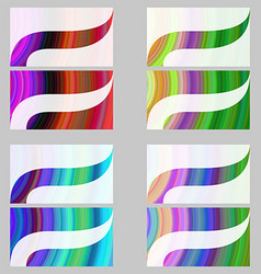 Multicolor abstract business card template set vector