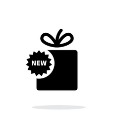 New box icon on white background vector image