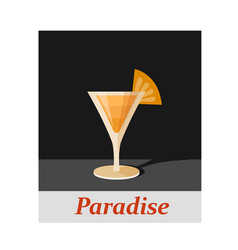 Paradise cocktail menu item or any kind of design vector
