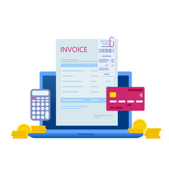 Pay bills online concept modern technology vector