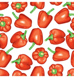 red peppers pattern vector image