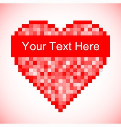 Red pixel Heart icon vector image
