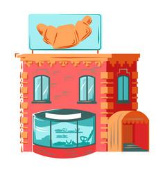 residential house building exterior facade vector image