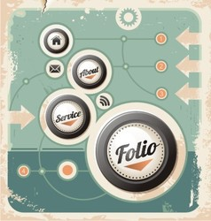 Retro design template vector image