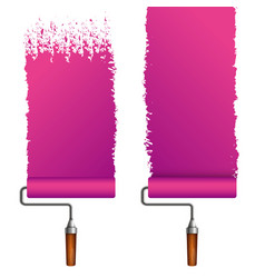 roller for painting different types vector image