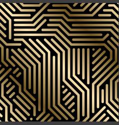 seamless geometric luxury pattern - techno vector image