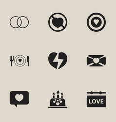 Set of 9 editable amour icons includes symbols vector