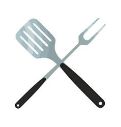 Spatula barbecue fork logo for barbecue party vector