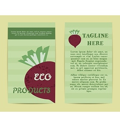 Stylish farm fresh flyer template or brochure vector