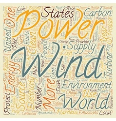 The benefits of wind power text background vector