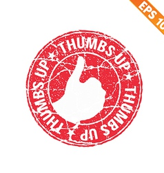 Thumbs up rubber stamp - - EPS10 vector