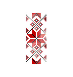 Traditional romanian embroidery ethnic pattern vector