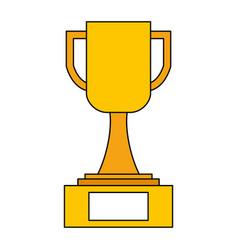 trophy award cup in pedestal image vector image