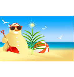 tropical snowman vector image
