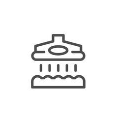 Vacuum cleaner line icon vector
