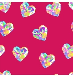 Valentine red diamond seamless pattern vector