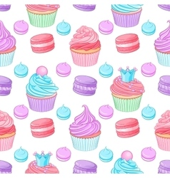 Various cute bright colorful blue pink and purple vector