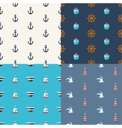 vintage flat design modern nautical marine pat vector image