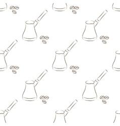 white coffee seamless vector image
