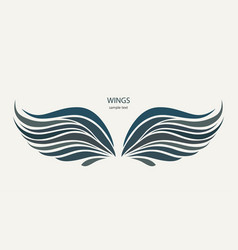 Wings pattern on a light background vector