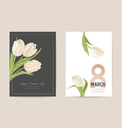 woman day 8 march holiday card spring floral vector image