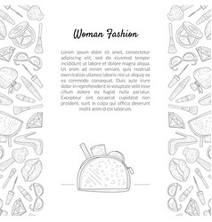 woman fashion banner template with place for text vector image