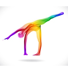 Yoga pose Abstract color vector