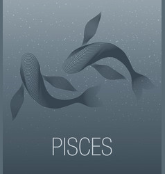 zodiac sign pisces vector image