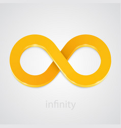 abstract infinity gold sign vector image