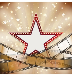 abstract vintage cinema background vector image vector image