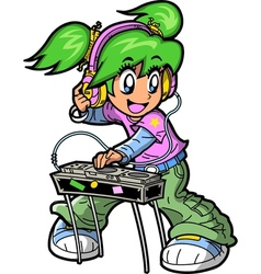 Anime Manga DJ vector image